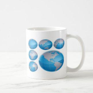 Blue 3D globe design Basic White Mug