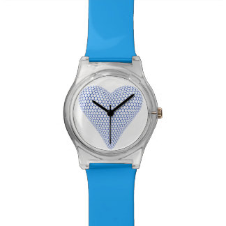 Blue 3D Heart Watch