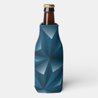 Blue 3D triangle pattern Bottle Cooler