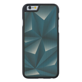 Blue 3d Triangles geometric pattern Carved Maple iPhone 6 Case