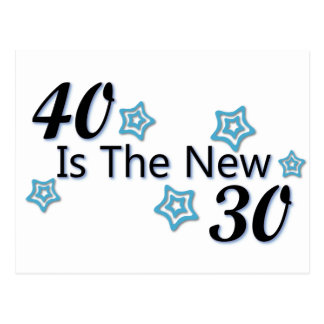 Blue 40 is the New 30 Postcards