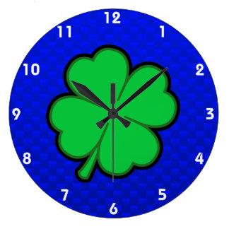 Blue 4 Leaf Clover Clocks