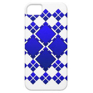 Blue 4 Square Diamond iphone 5 case