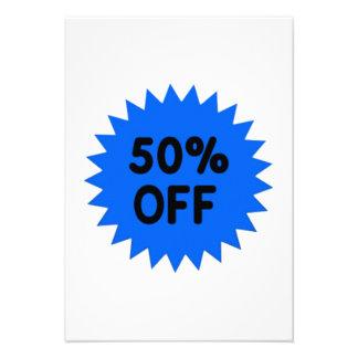 Blue 50 Percent Off Personalized Invite