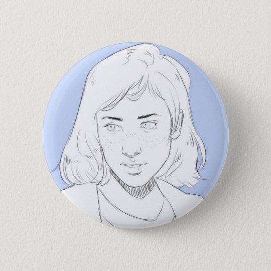 Blue 6 Cm Round Badge