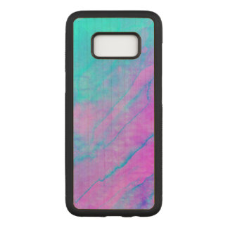 Blue 90s Street Art Graffiti Watercolor Stone Carved Samsung Galaxy S8 Case