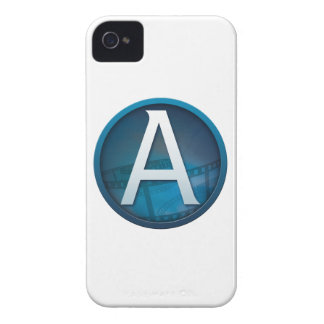 Blue A - Case-Mate iPhone 4 Barely There Case iPhone 4 Case