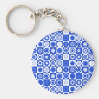 Blue A GO GO Keychain