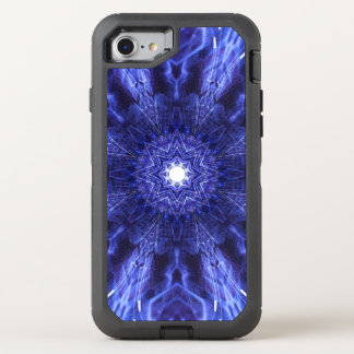 Blue Abstract Ancient Art OtterBox Defender iPhone 8/7 Case