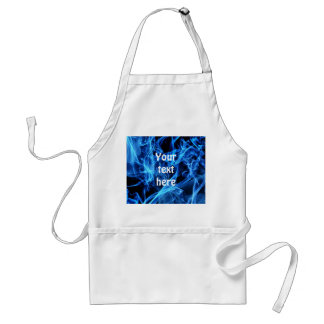 Blue Abstract Adult Apron