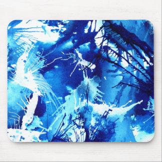 Blue abstract art creative mousepad
