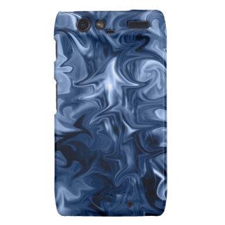 blue abstract art druid razr cover motorola droid RAZR cases