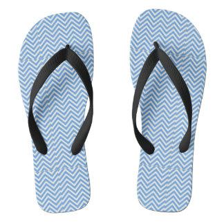 Blue Abstract Art Flip Flops