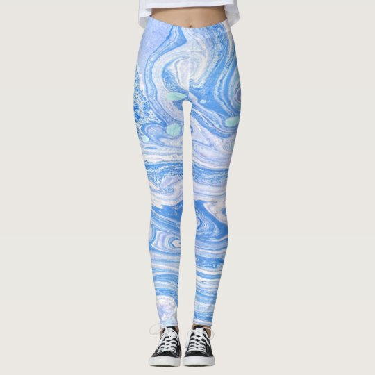 Blue abstract art Leggings