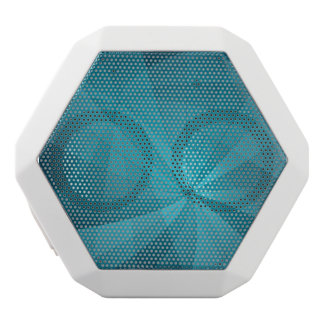 Blue abstract background white boombot rex bluetooth speaker