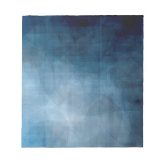 Blue abstract background notepad