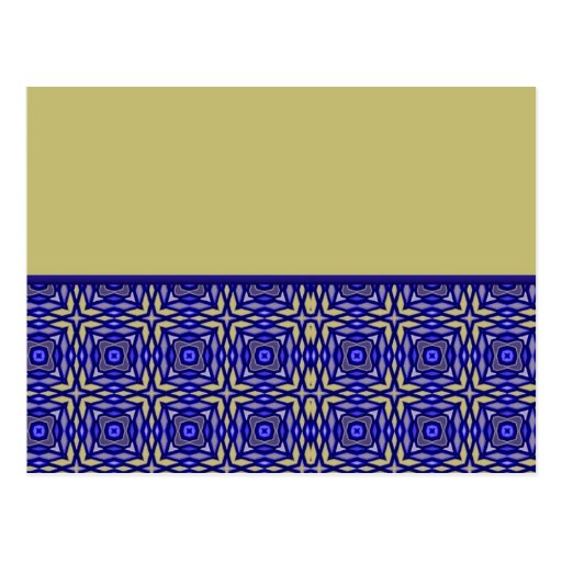 Blue Abstract Bottom Border Post Cards