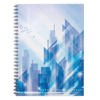 Blue Abstract City Notebook