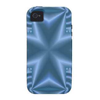 Blue abstract cross iPhone 4/4S case
