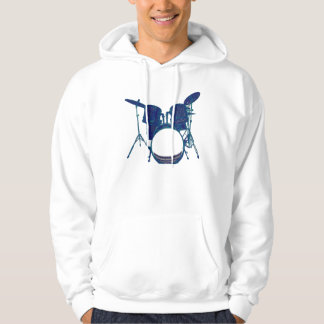 Blue Abstract Drum Set Hoodie