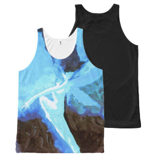 Blue Abstract Fairy All-Over Print Tank Top