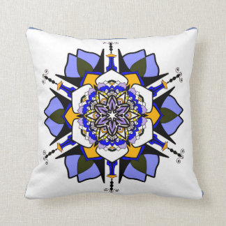 Blue Abstract flower fun lounge cushion