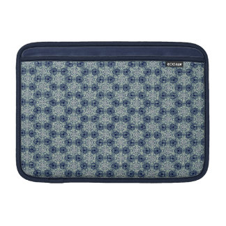 Blue abstract flower pattern case for Macbook Air