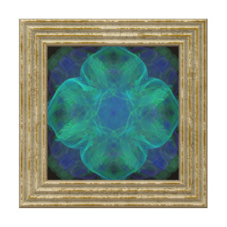 Blue Abstract Flower Wood Wall Art