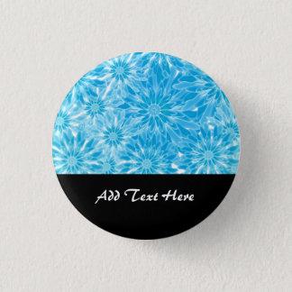 Blue Abstract Flowers Digital Art 3 Cm Round Badge