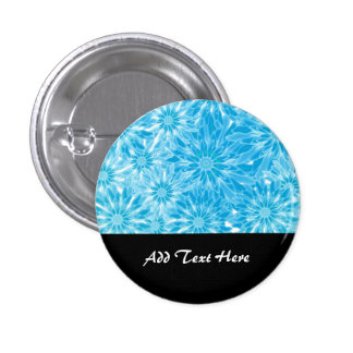 Blue Abstract Flowers Digital Art 3 Cm Round Badge