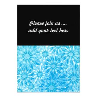 Blue Abstract Flowers Digital Art 13 Cm X 18 Cm Invitation Card