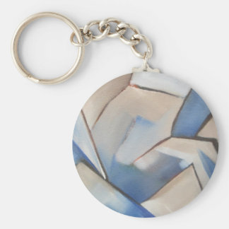 blue abstract geometric art keychains