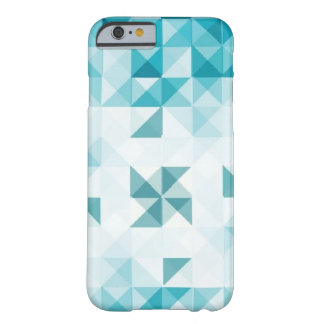Blue Abstract Geometrical Background Template Barely There iPhone 6 Case