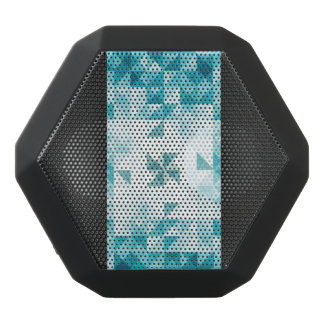 Blue Abstract Geometrical Background Template Black Bluetooth Speaker