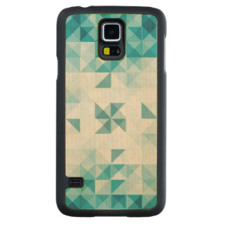 Blue Abstract Geometrical Background Template Carved Maple Galaxy S5 Case
