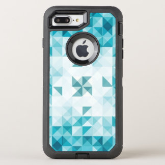 Blue Abstract Geometrical Background Template OtterBox Defender iPhone 7 Plus Case