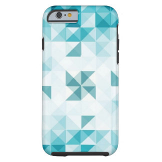 Blue Abstract Geometrical Background Template Tough iPhone 6 Case