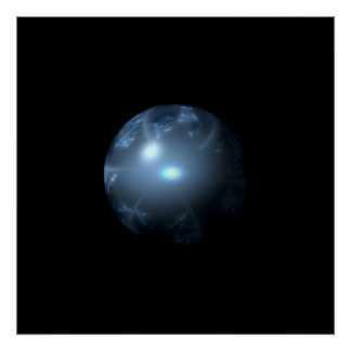 Blue Abstract Globe Poster