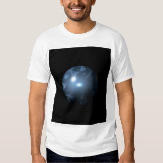 Blue Abstract Globe Tee Shirts
