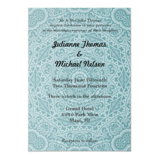 """Blue Abstract 5"""" X 7"""" Invitation Card"""