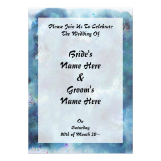 Blue Abstract Personalized Announcement