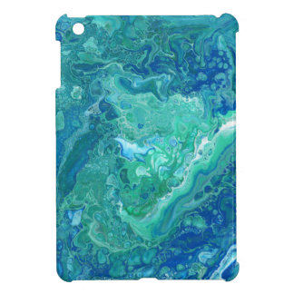 "Blue Abstract iPad Mini Case - ""Atlantis"""