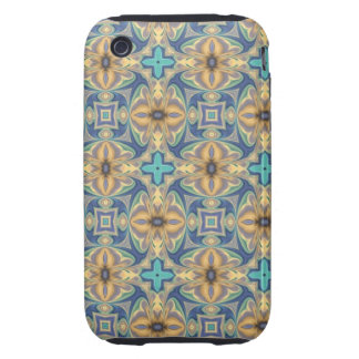 Blue Abstract iPhone 3 Tough Cases