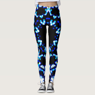 Blue Abstract Lights Leggings