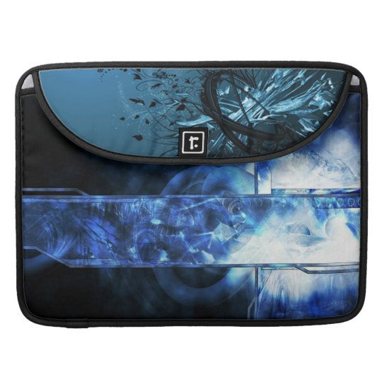 blue abstract MacBook pro sleeves