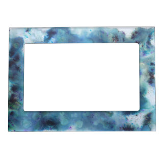 Blue Abstract. Magnetic Picture Frame