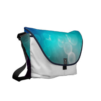 Blue Abstract Messenger Bags