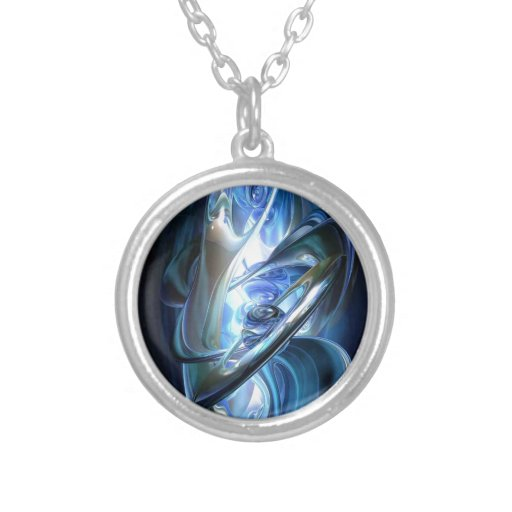 Blue Abstract Pendant