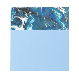 Blue Abstract Note Pad