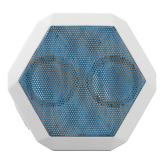 Blue abstract pattern white boombot rex bluetooth speaker